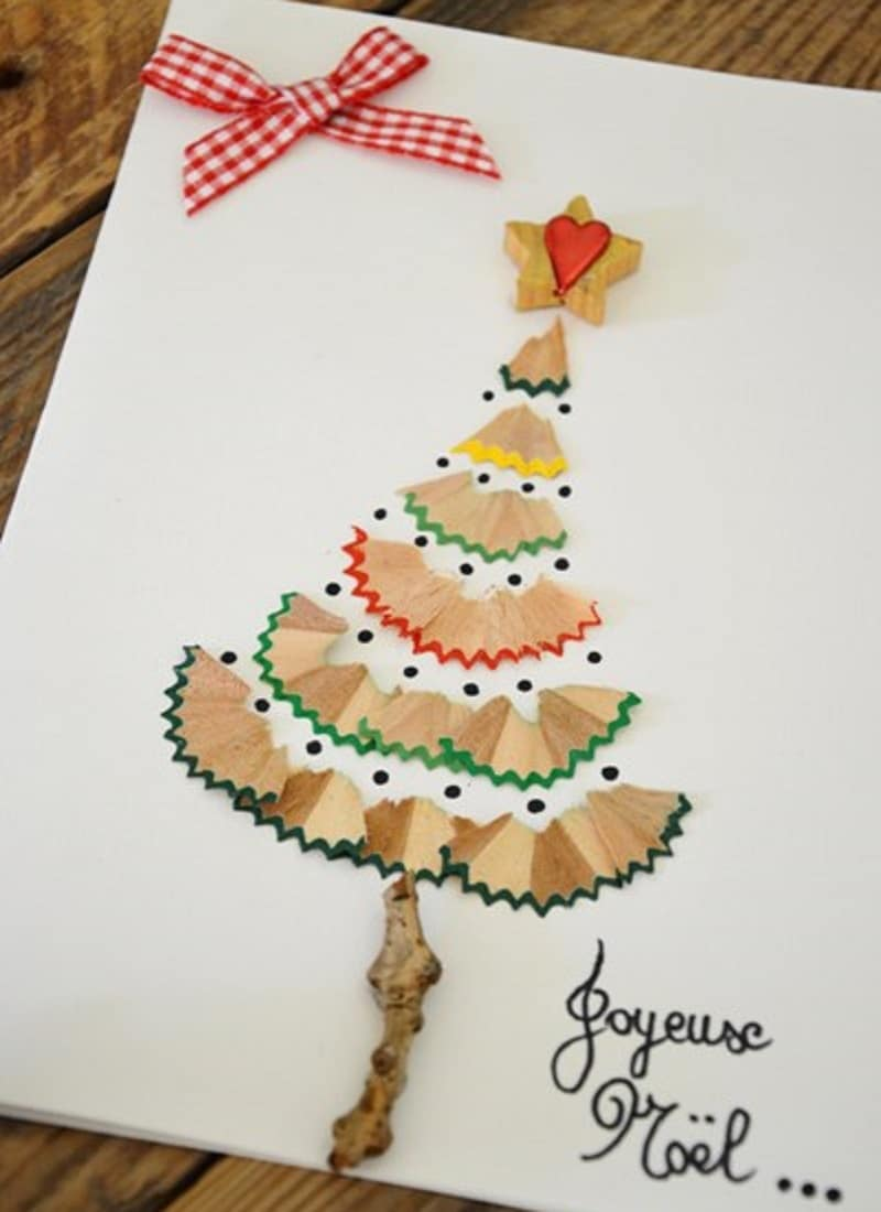 Carte de voeux maison 15 id es faciles pour les enfants - Como hacer una felicitacion de navidad original ...