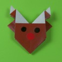 Origami Rudolph le renne