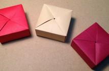 Origami boîte cadeau