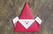 origami père noël super facile