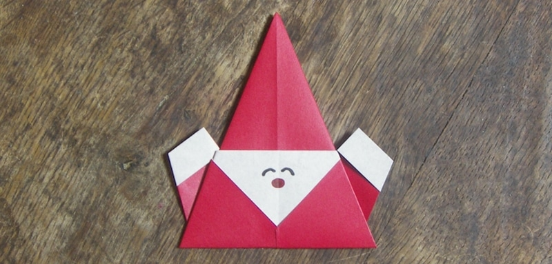 Origami p re no l super facile - Origami simple enfant ...