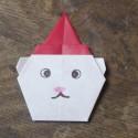 Origami ours de Noël
