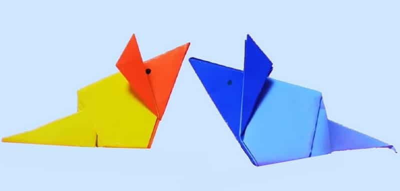 Origami souris - Origami simple a realiser ...