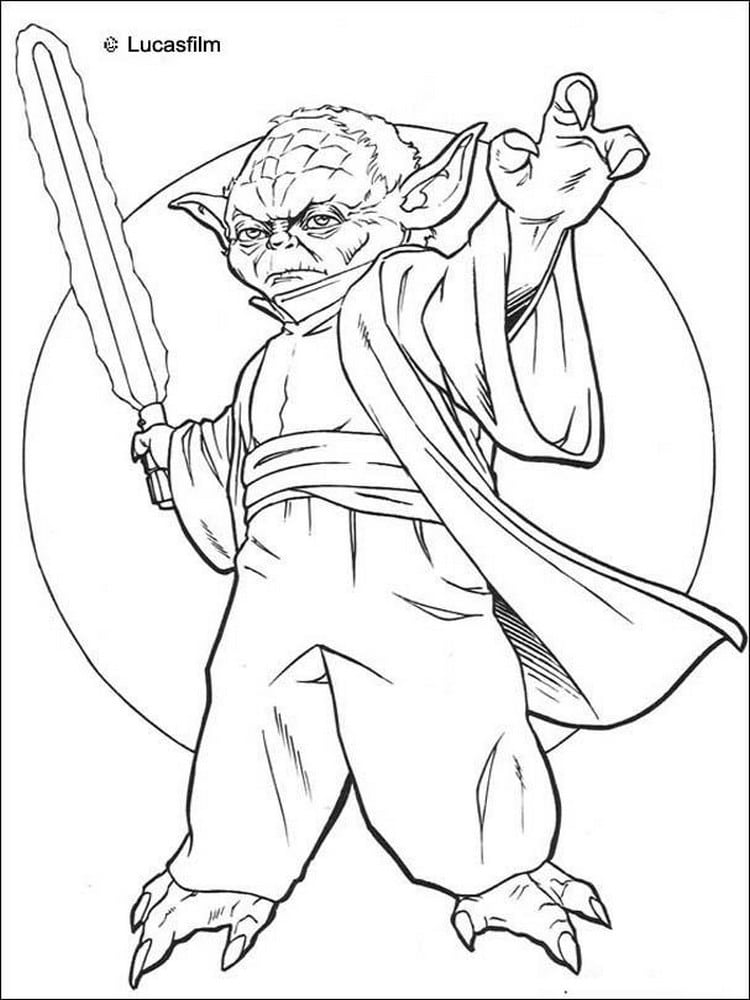 Coloriage star wars 40 dessins imprimer for Clone wars coloring page