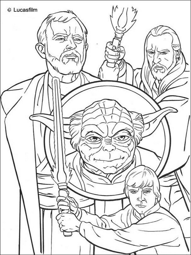 coloriage star wars 40 modeles a imprimer