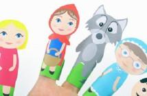marionnettes doigt chaperon rouge