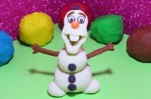 Olaf en pâte à modeler