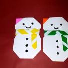 Origami bonhomme de neige