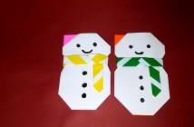 bonhomme de neige en papier