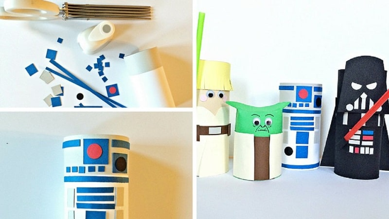 Bricolage star wars 20 id es cr atives - Creation rouleau papier toilette ...