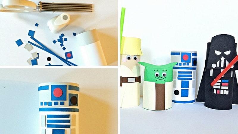 Bricolage star wars 20 id es cr atives - Activite manuelle avec papier toilette ...