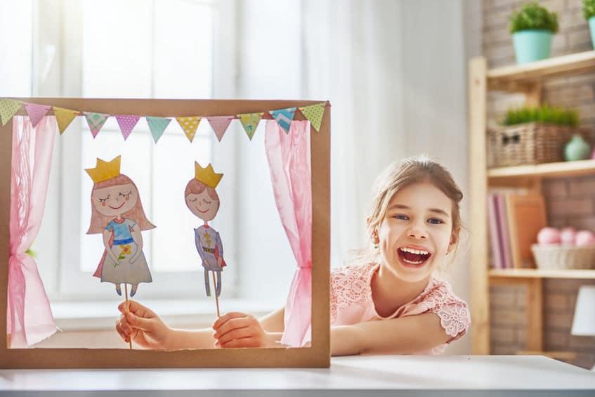 theatre marionnettes carton