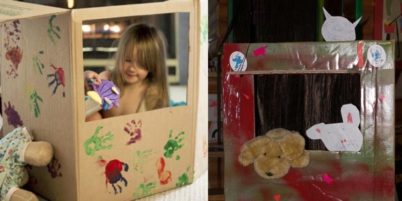 fabriquer un th tre de marionnettes des id es simples. Black Bedroom Furniture Sets. Home Design Ideas