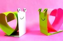 Escargot d'amour en papier