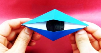 origami oeil monstre