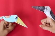 Origami oiseau marionnette