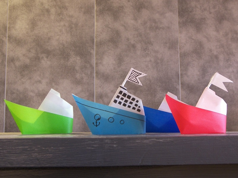 Bateau en papier facile - Creation papier crepon facile ...