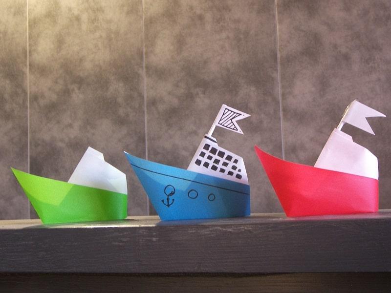 Bateau en papier facile for Decoration en papier facile