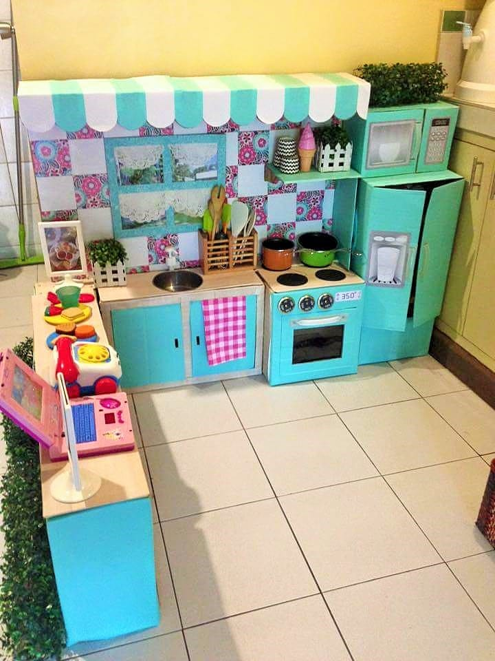 Comment cr er une mini cuisine en carton pour votre enfant for Creer votre cuisine