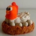 Poule en pâte à modeler