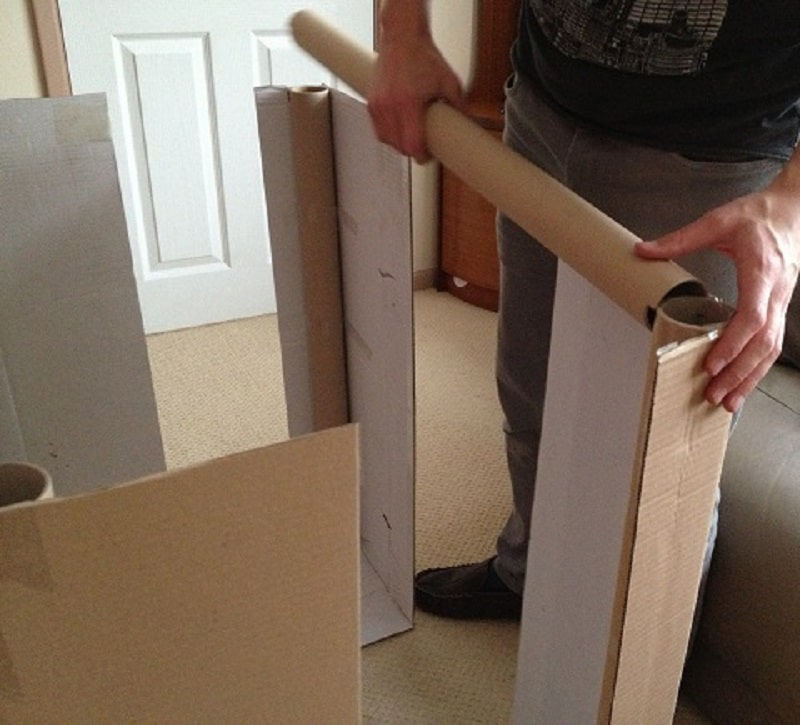comment construire une cabane en carton + modèles