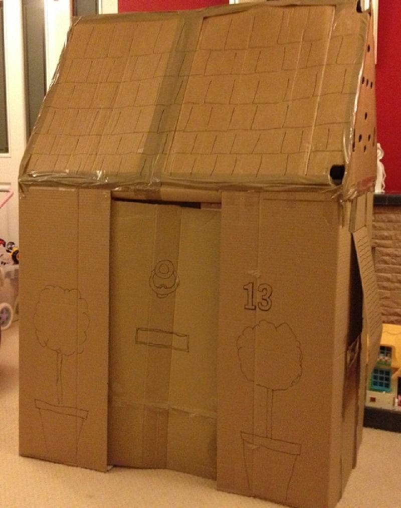 comment construire une cabane en carton mod les. Black Bedroom Furniture Sets. Home Design Ideas