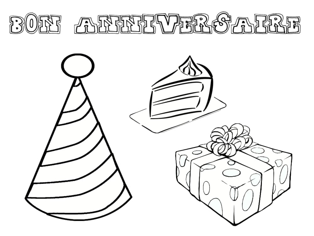 Coloriage anniversaire 20 dessins imprimer - Joyeux anniversaire a colorier ...