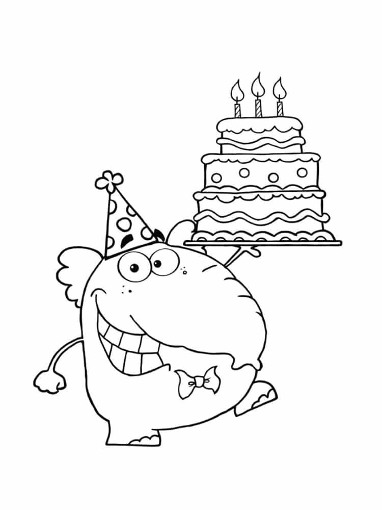 coloriage anniversaire dessin anniversaire les modles imprimer