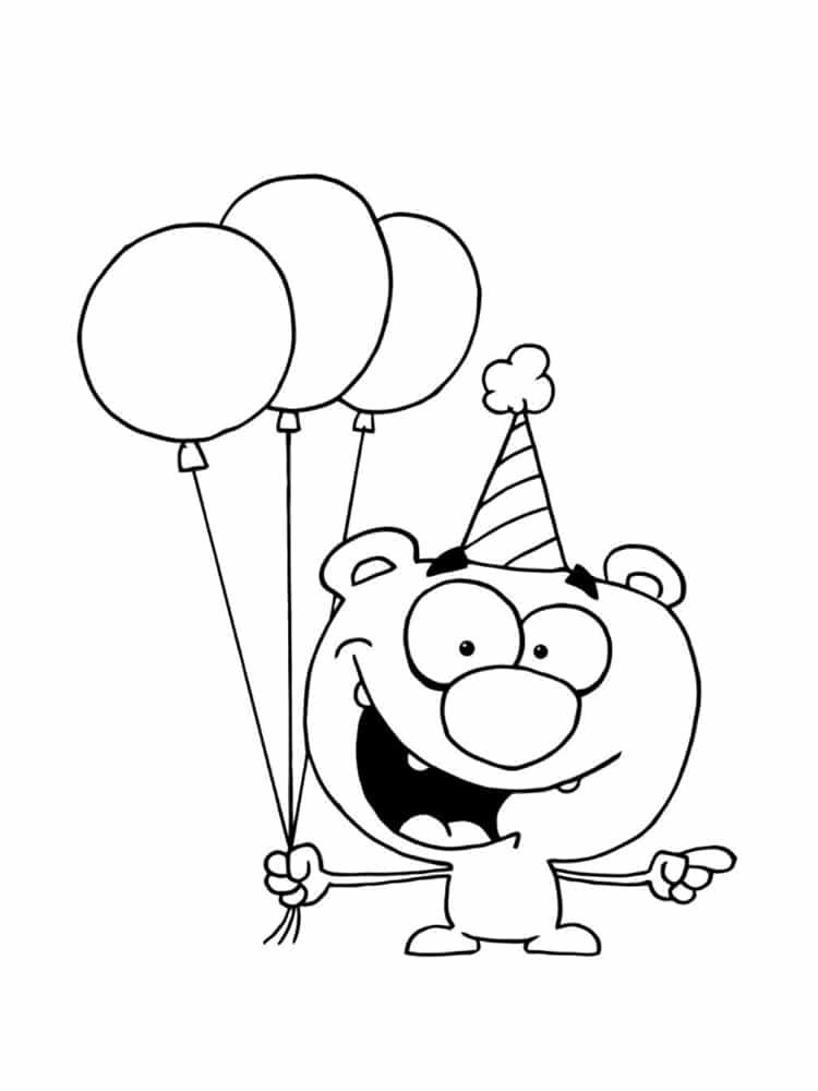 Coloriage anniversaire 20 dessins imprimer - Dessin joyeux anniversaire ...