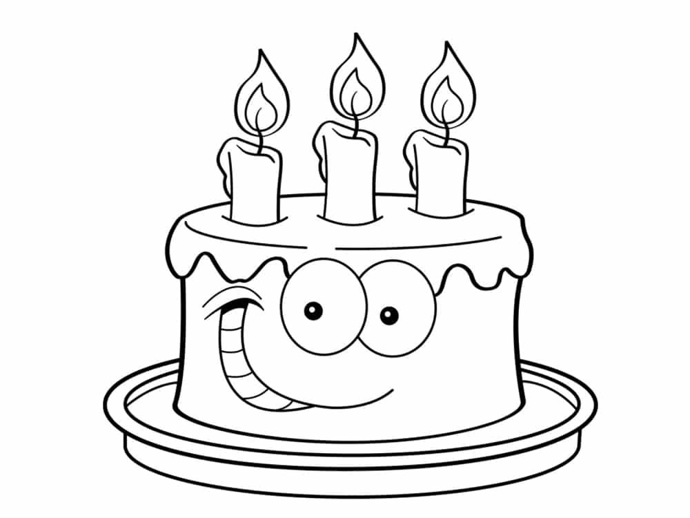 Coloriage anniversaire 20 dessins imprimer - Dessin gateau anniversaire 50 ans ...