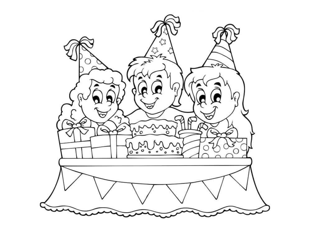 Coloriage anniversaire : 20 dessins à imprimer