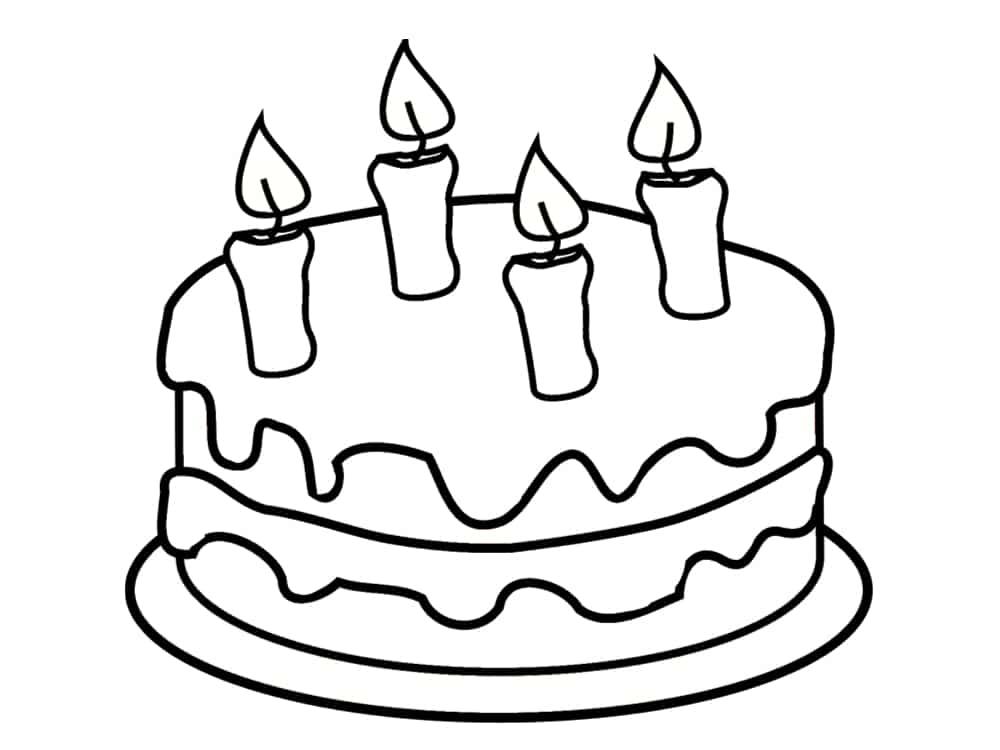 Coloriage anniversaire 20 dessins imprimer - Gateau d anniversaire a colorier ...