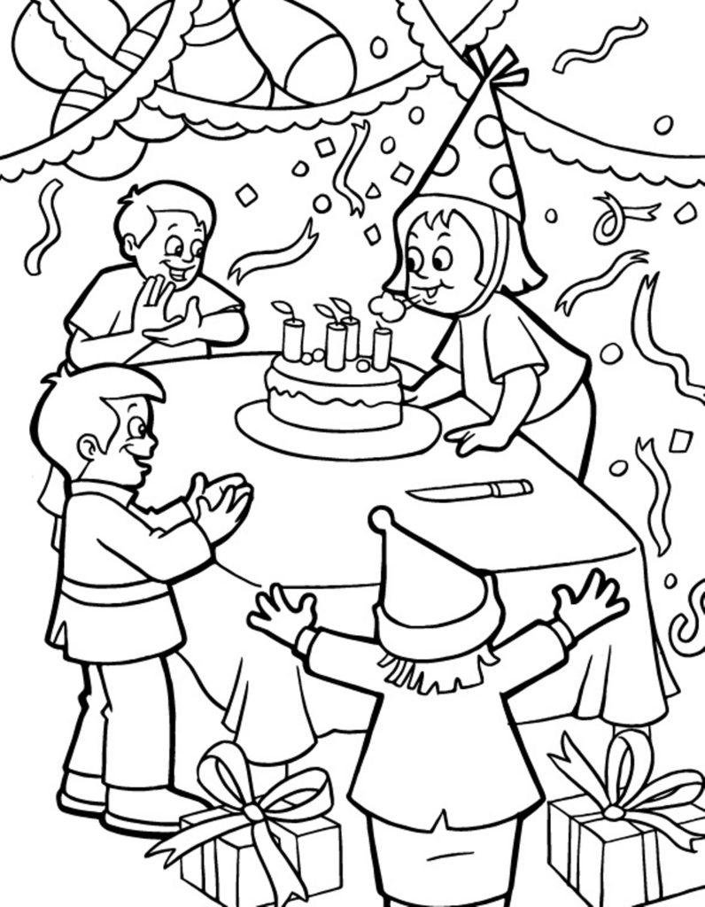 coloriage anniversaire enfant