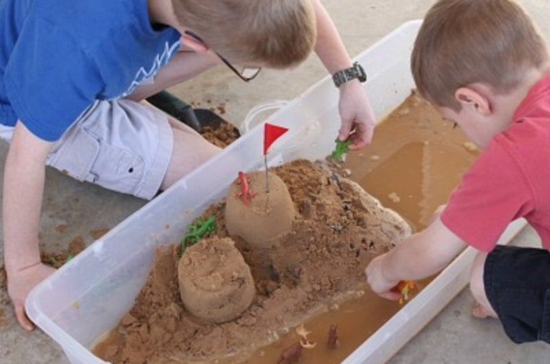 Maison bac à sable