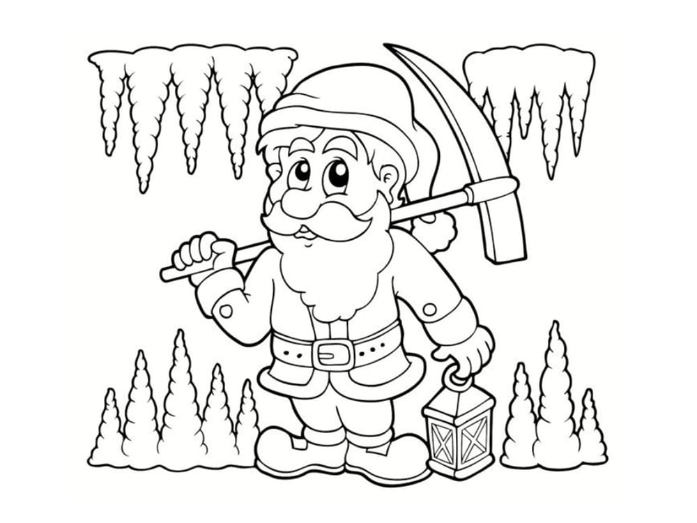Coloriage Nain Et Gnome Dessins à Imprimer
