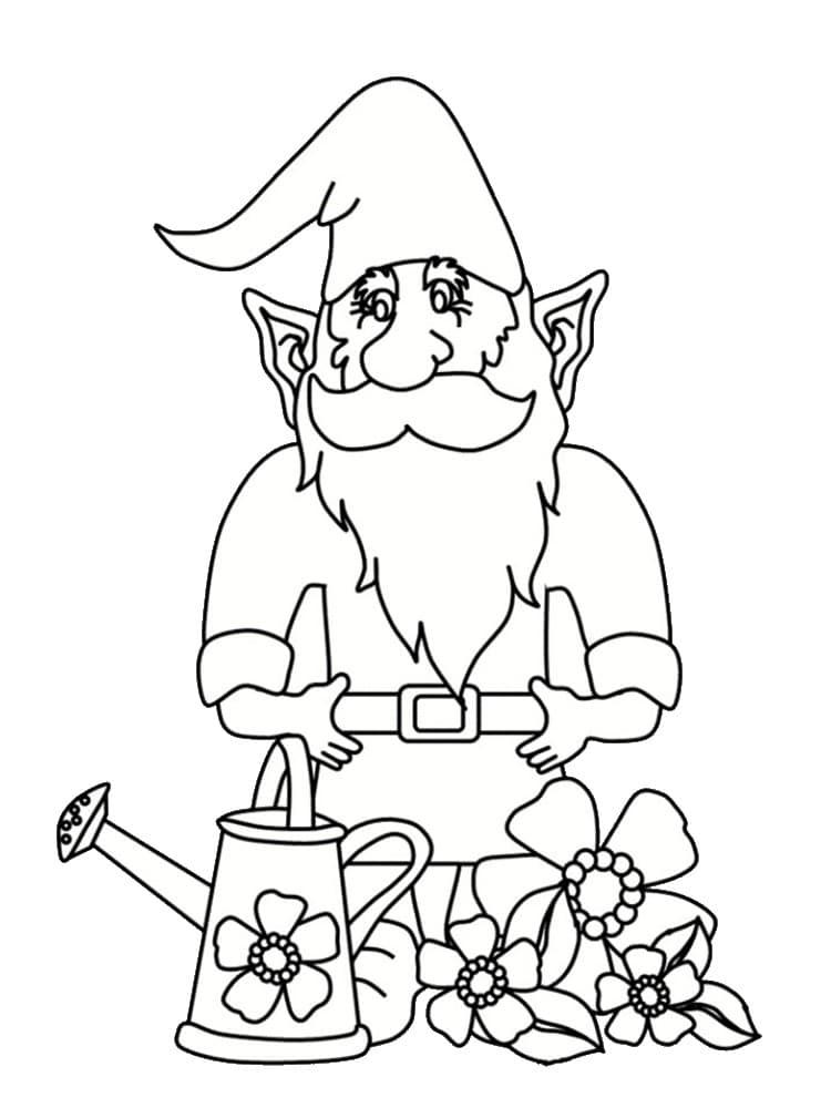 Coloriage nain et gnome : dessins à imprimer