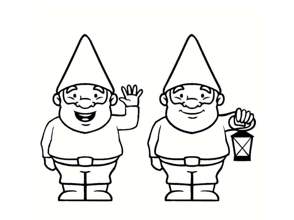 Coloriage nain et gnome dessins imprimer - Coloriage de chiot a imprimer ...