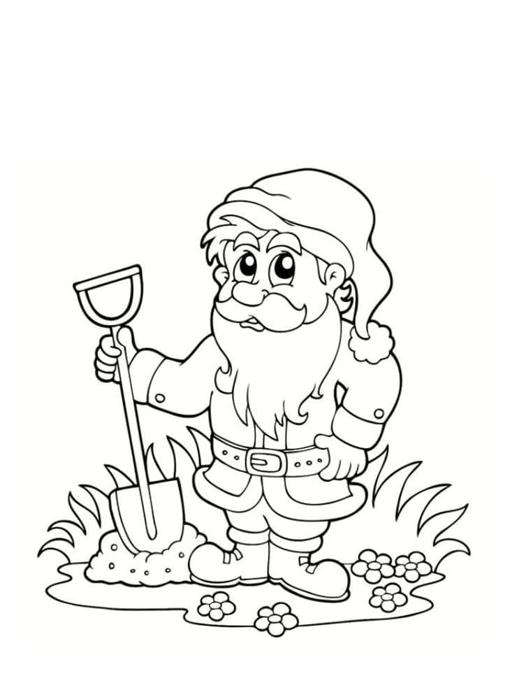 Coloriage nain et gnome dessins imprimer - Jeux et coloriage ...