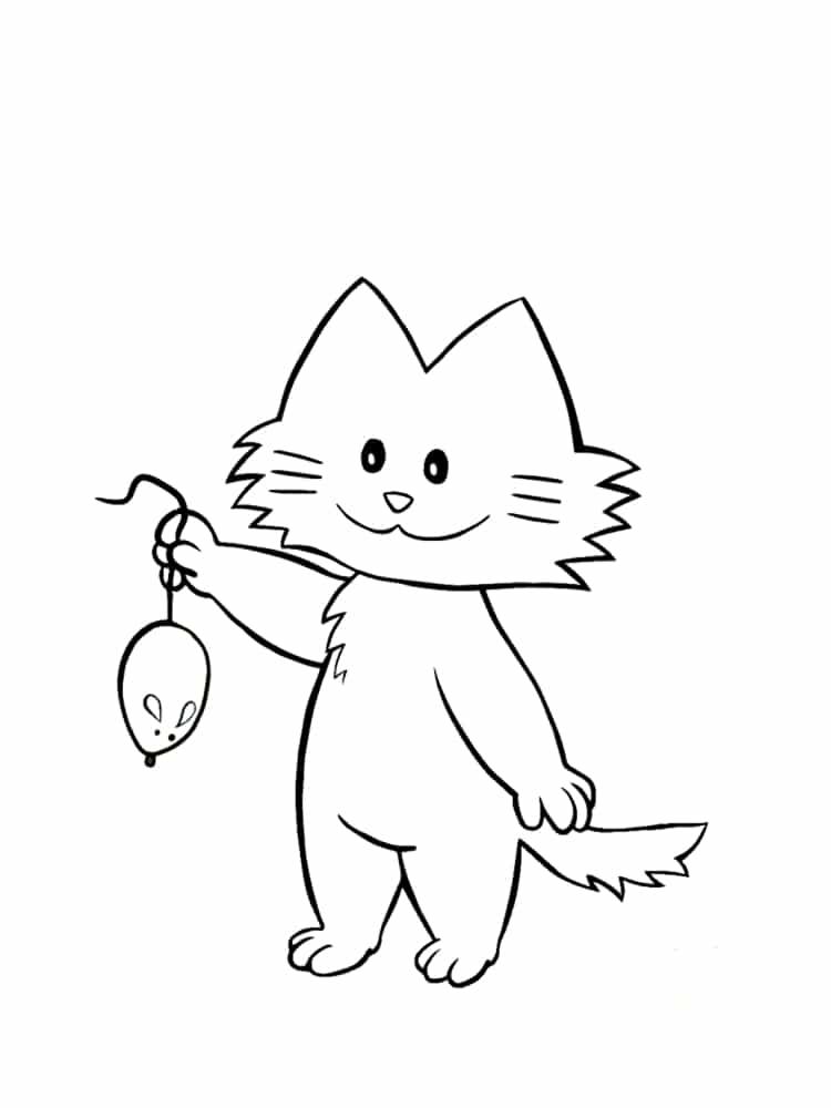 Coloriage chat 20 mod les imprimer gratuitement - Dessins de chats rigolos ...