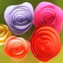 Une rose en papier super facile à réaliser