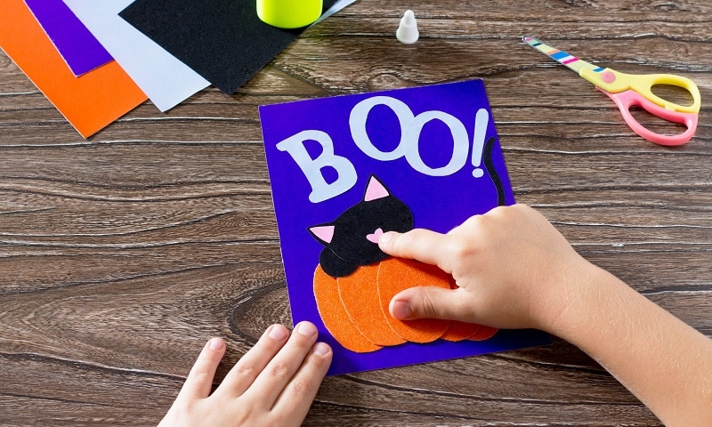 carte d'halloween enfant