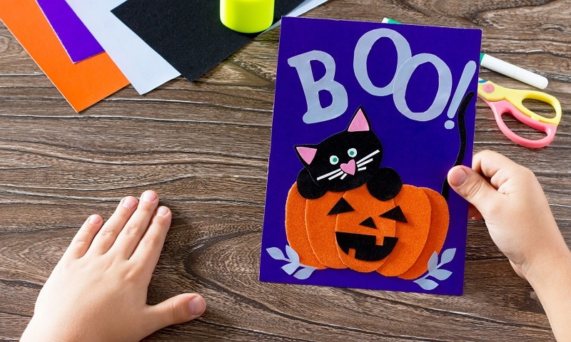 carte halloween bricolage