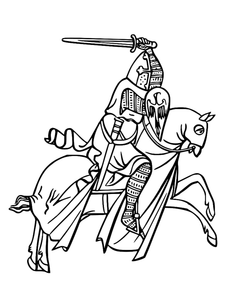 Coloriage chevalier 20 dessins imprimer gratuitement - Dessin chevalier du zodiaque a imprimer ...