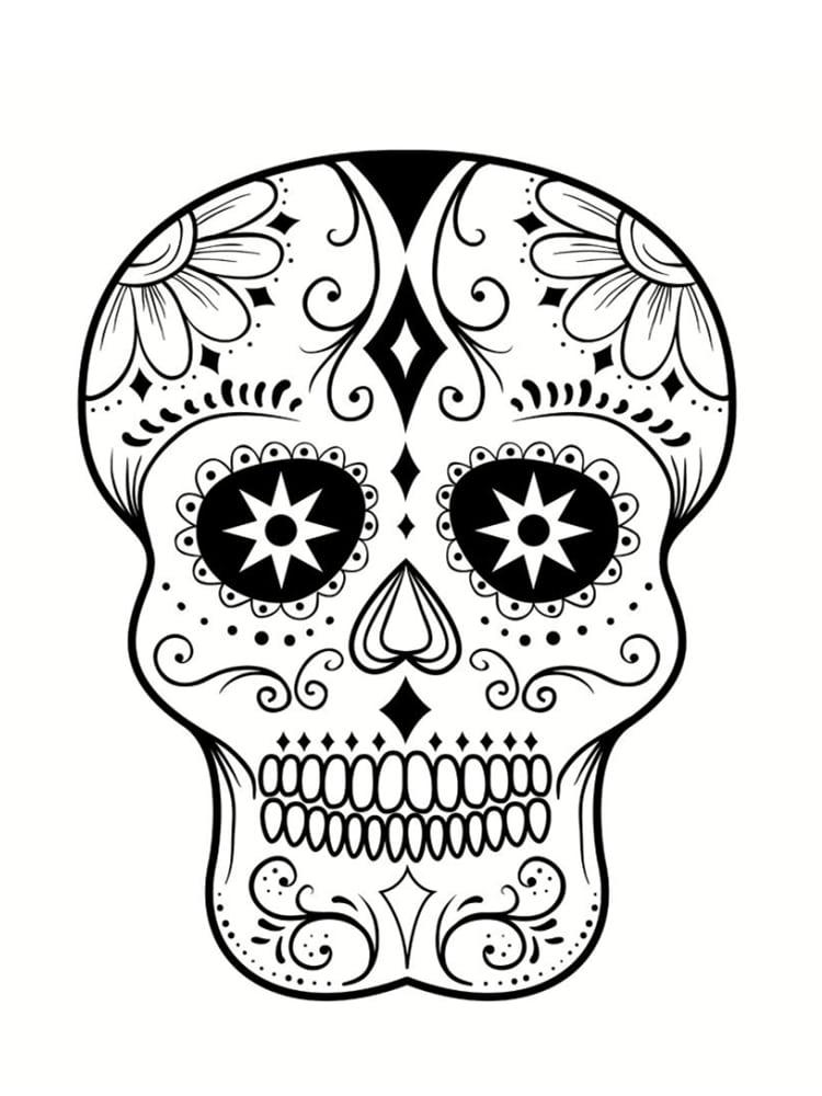 coloriage tte de mort mexicaine les modles imprimer