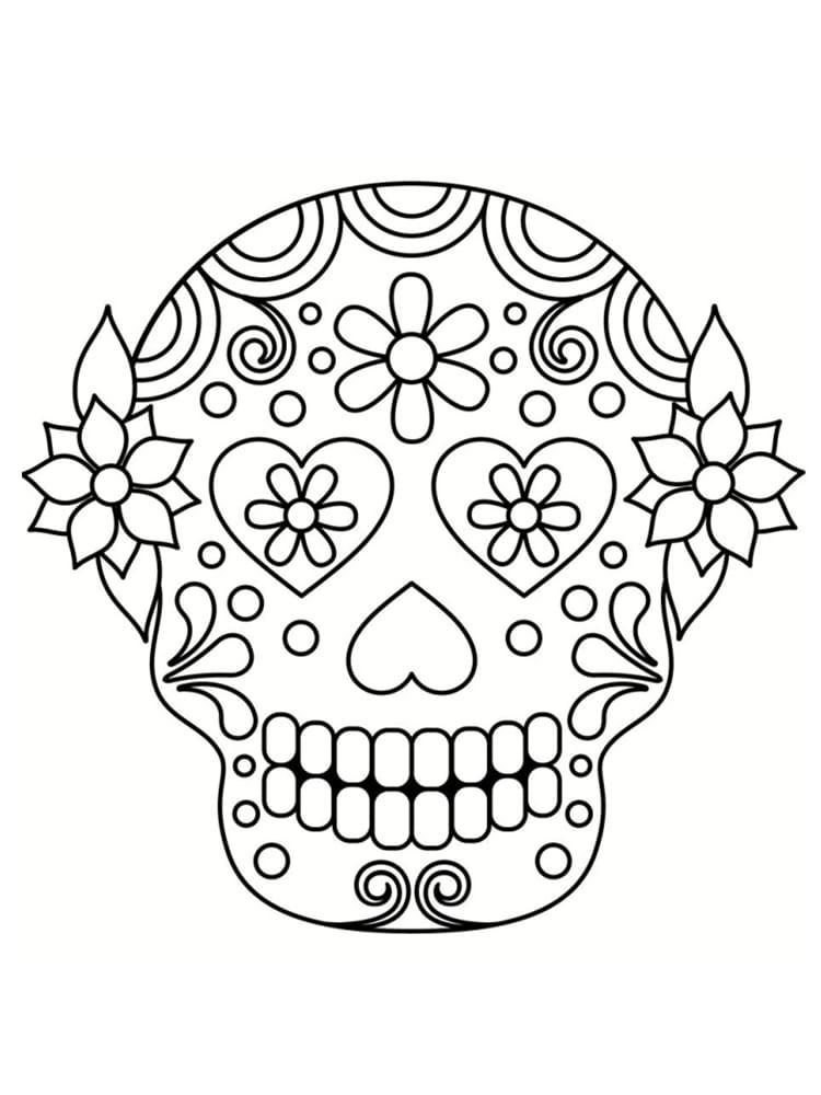 Coloriage t te de mort mexicaine 20 dessins imprimer - Dessin de soleil a imprimer ...