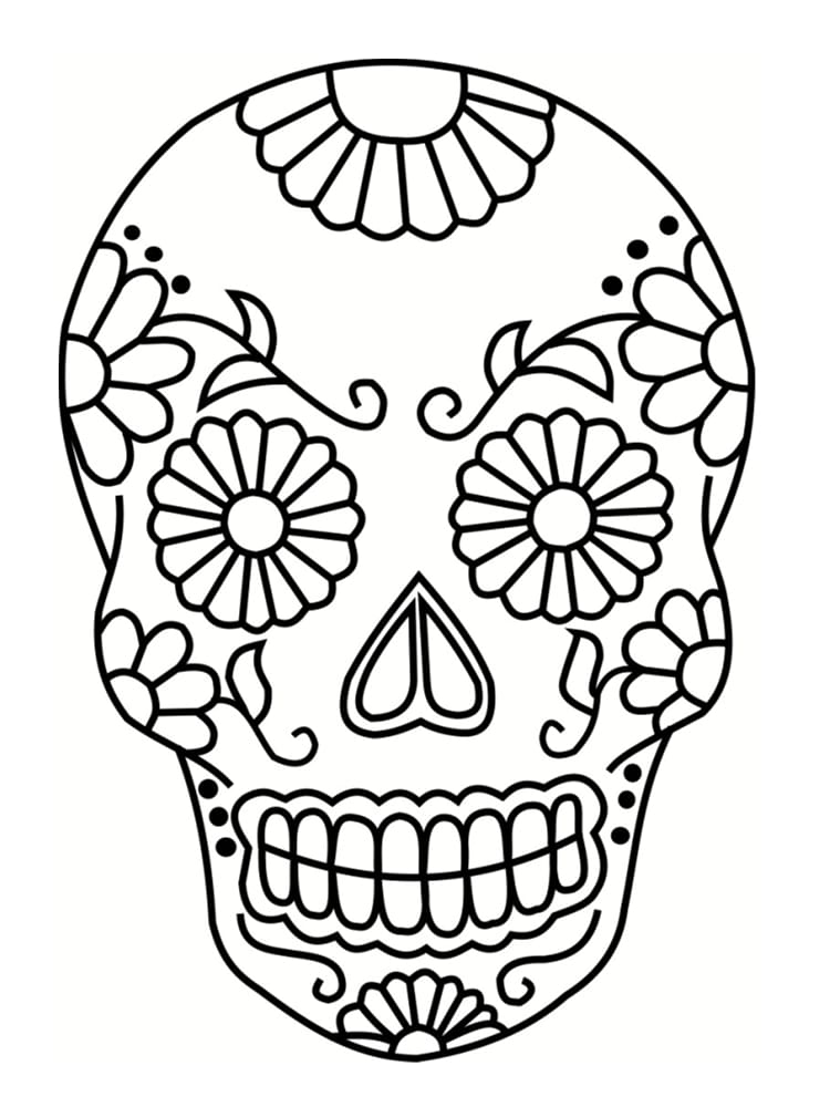 Coloriage t te de mort mexicaine 20 dessins imprimer - Grand dessin a colorier ...