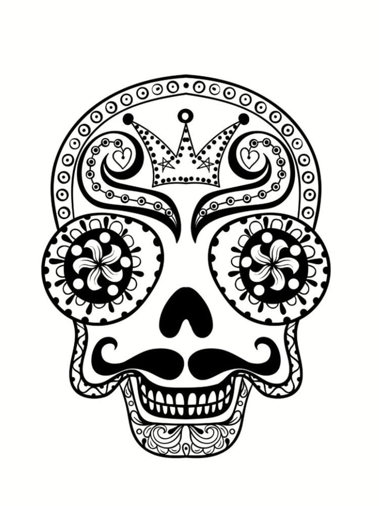 Coloriage t te de mort mexicaine 20 dessins imprimer - Dessin a imprimer de ...