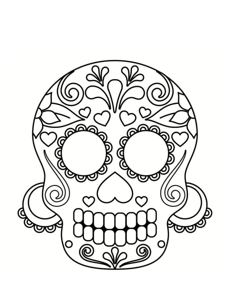 Coloriage t te de mort mexicaine 20 dessins imprimer - Tete de panda dessin ...