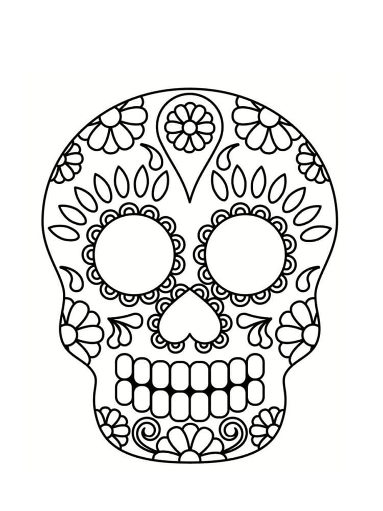 Coloriage t te de mort mexicaine 20 dessins imprimer - Dessin de turbo a imprimer ...
