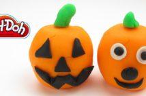 citrouilles halloween pâte à modeler